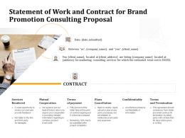 Statement Of Work And Contract For Brand Promotion Consulting Proposal Ppt Portfolio