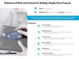 Statement Of Work And Contract For Building Shopify Store Proposal Ppt Powerpoint Presentation
