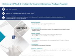 Statement Of Work And Contract For Business Operations Analysis Proposal Ppt Gallery