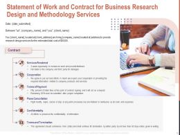 Statement Of Work And Contract For Business Research Design And Methodology Services Ppt Grid