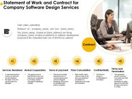 Statement Of Work And Contract For Company Software Design Services Ppt Demonstration
