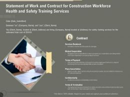 Statement Of Work And Contract For Construction Workforce Health And Safety Training Services Ppt File
