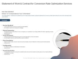 Statement Of Work And Contract For Conversion Rate Optimization Services Ppt Slides Show