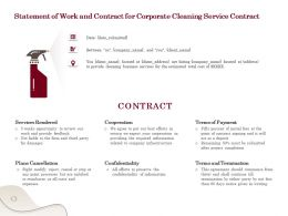 Statement Of Work And Contract For Corporate Cleaning Service Contract Ppt Powerpoint Tips