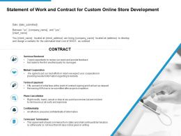 Statement Of Work And Contract For Custom Online Store Development Ppt Slide