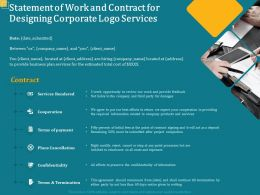 Statement Of Work And Contract For Designing Corporate Logo Services Ppt Model Outline