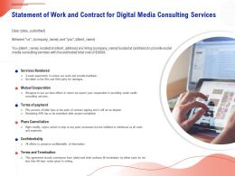 Statement Of Work And Contract For Digital Media Consulting Services Ppt Gallery