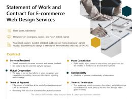 Statement Of Work And Contract For E Commerce Web Design Services Ppt Powerpoint Presentation Ideas