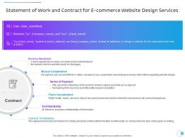Statement Of Work And Contract For E Commerce Website Design Services Ppt Model