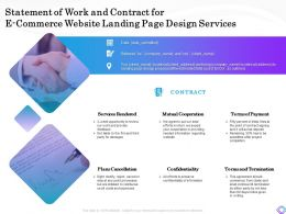 Statement Of Work And Contract For E Commerce Website Landing Page Design Services Ppt Presentation Files