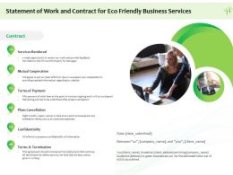Statement Of Work And Contract For Eco Friendly Business Services Ppt Summary