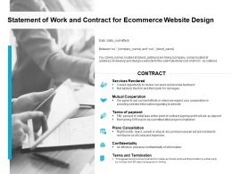 Statement Of Work And Contract For Ecommerce Website Design Ppt Slide