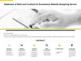 Statement Of Work And Contract For Ecommerce Website Designing Service Ppt Slides
