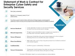 Statement Of Work And Contract For Enterprise Cyber Safety And Security Services Ppt File Elements