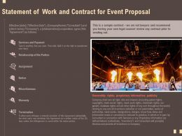 Statement Of Work And Contract For Event Proposal Ppt Powerpoint Icon