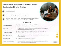 Statement Of Work And Contract For Graphic Business Card Design Services Ppt Example File