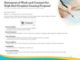 Statement Of Work And Contract For High End Graphics Gaming Proposal Ppt Demonstration