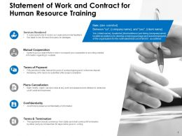 Statement Of Work And Contract For Human Resource Training Ppt Powerpoint Presentation