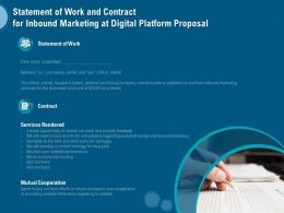 Statement Of Work And Contract For Inbound Marketing At Digital Platform Proposal Ppt Pictures