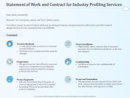 Statement Of Work And Contract For Industry Profiling Services Ppt Powerpoint Ideas
