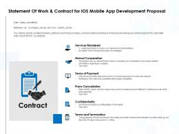 Statement Of Work And Contract For IOS Mobile App Development Proposal Ppt Show