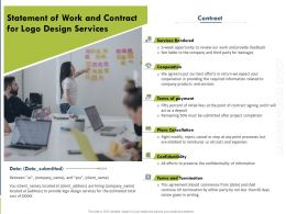Statement Of Work And Contract For Logo Design Services Ppt Powerpoint Model