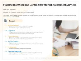Statement Of Work And Contract For Market Assessment Services Ppt Ideas