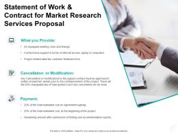Statement Of Work And Contract For Market Research Services Proposal Ppt Powerpoint Presentation
