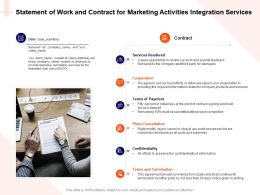 Statement Of Work And Contract For Marketing Activities Integration Services Ppt Styles