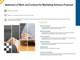 Statement Of Work And Contract For Marketing Advisory Proposal Ppt Download