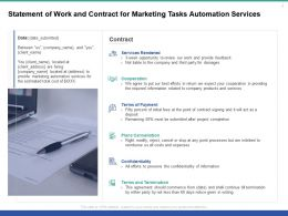 Statement Of Work And Contract For Marketing Tasks Automation Services Ppt Presentation Portfolio