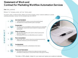 Statement Of Work And Contract For Marketing Workflow Automation Services Cooperation Ppt Influencers