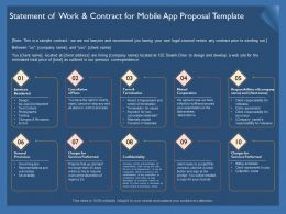 Statement Of Work And Contract For Mobile App Proposal Template Ppt Portrait
