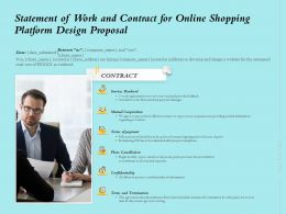 Statement Of Work And Contract For Online Shopping Platform Design Proposal Ppt Slides