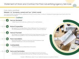 Statement Of Work And Contract For Paid Advertising Agency Services Ppt Powerpoint Pictures