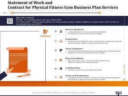 Statement Of Work And Contract For Physical Fitness Gym Business Plan Services Ppt File