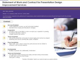 Statement Of Work And Contract For Presentation Design Improvement Services Ppt Icon