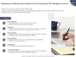 Statement Of Work And Contract For Professional Ppt Design Services Termination Ppt Presentation Deck