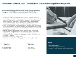 Statement Of Work And Contract For Project Management Proposal Ppt Slides