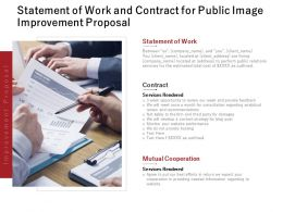Statement Of Work And Contract For Public Image Improvement Proposal Ppt Slides