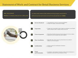 Statement Of Work And Contract For Retail Business Services Ppt Gallery