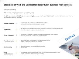 Statement Of Work And Contract For Retail Outlet Business Plan Services Ppt Ideas Topics