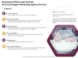 Statement Of Work And Contract For Search Engine Marketing Agency Services Ppt Ideas