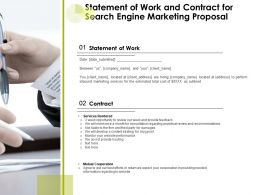 Statement Of Work And Contract For Search Engine Marketing Proposal Ppt Presentation Show