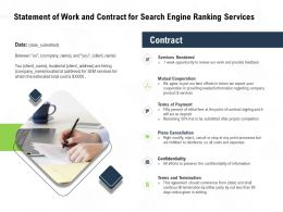 Statement Of Work And Contract For Search Engine Ranking Services Ppt Powerpoint Presentation Themes