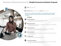Statement Of Work And Contract For Shopify Ecommerce Solution Proposal Ppt Powerpoint Presentation