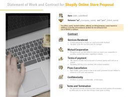 Statement Of Work And Contract For Shopify Online Store Proposal Ppt Powerpoint Presentation Gallery