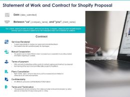 Statement Of Work And Contract For Shopify Proposal Ppt Powerpoint Presentation Professional