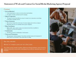 Statement Of Work And Contract For Social Media Marketing Agency Proposal Ppt Ideas Graphics
