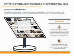 Statement Of Work And Contract For Solar System Proposal Cont Ppt Powerpoint Presentation